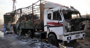 کامیون حاوی کمکهای بشردوستانه سازمان ملل درسوریه