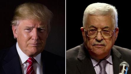 ترامپ-محمود عباس