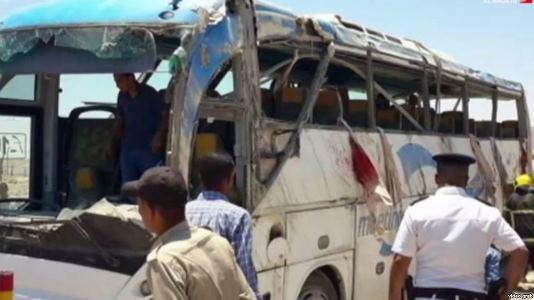 حمله تروریستی به اتوبوس حامل مسیحیان قبطی در مصر