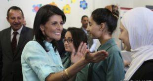 نیکی هیلی کمکهای  مالی ایالات متحده به اردوگاههای سوری ادامه خواهد داشت.