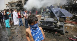 انفجار یک ایستگاه اتوبوس شهر کربلاء