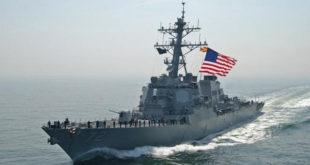 ناو جنگی آمریکا با شلیک گلوله به قایق ایرانی هشدار داد