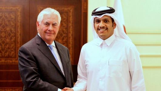 رکس تیلرسون و شیخ محمد الرحمان آل ثانی