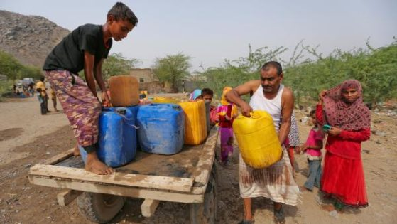 مبتلایان به وبا در یمن