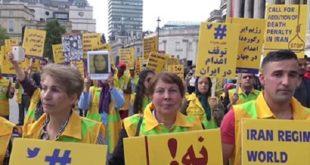 لندن – میدان ترافالگار تظاهرات در حمایت از جنبش دادخواهی قتلعام ۶۷ + فیلم و عکس