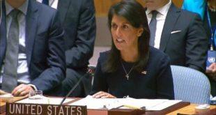 نیکی هیلی : برجام نمی تواند مجوزی برای تداوم اقدامات خلافکارانه ایران در منطقه باشد.