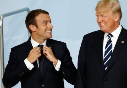 دونالد ترامپ، رئیس جمهوری آمریکا و امانوئل مکرون، رئیس جمهوری فرانسه