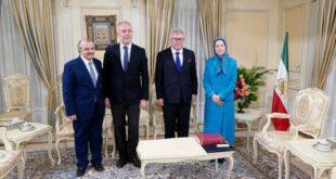 هیأت پارلمان اروپا با خانم مریم رجوی ملاقات و با قيام مردم ایران اعلام همبستگی كرد
