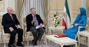 دیدار نمایندگان ارشد کنگره آمریکا با رئیس جمهور برگزیده مقاومت ایران